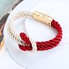 New Trendy Fashion Braided Rope Chain with Magnetic Clasp Bow Charm Bracelets & Bangles Pulseira for Women Men Jewelry!