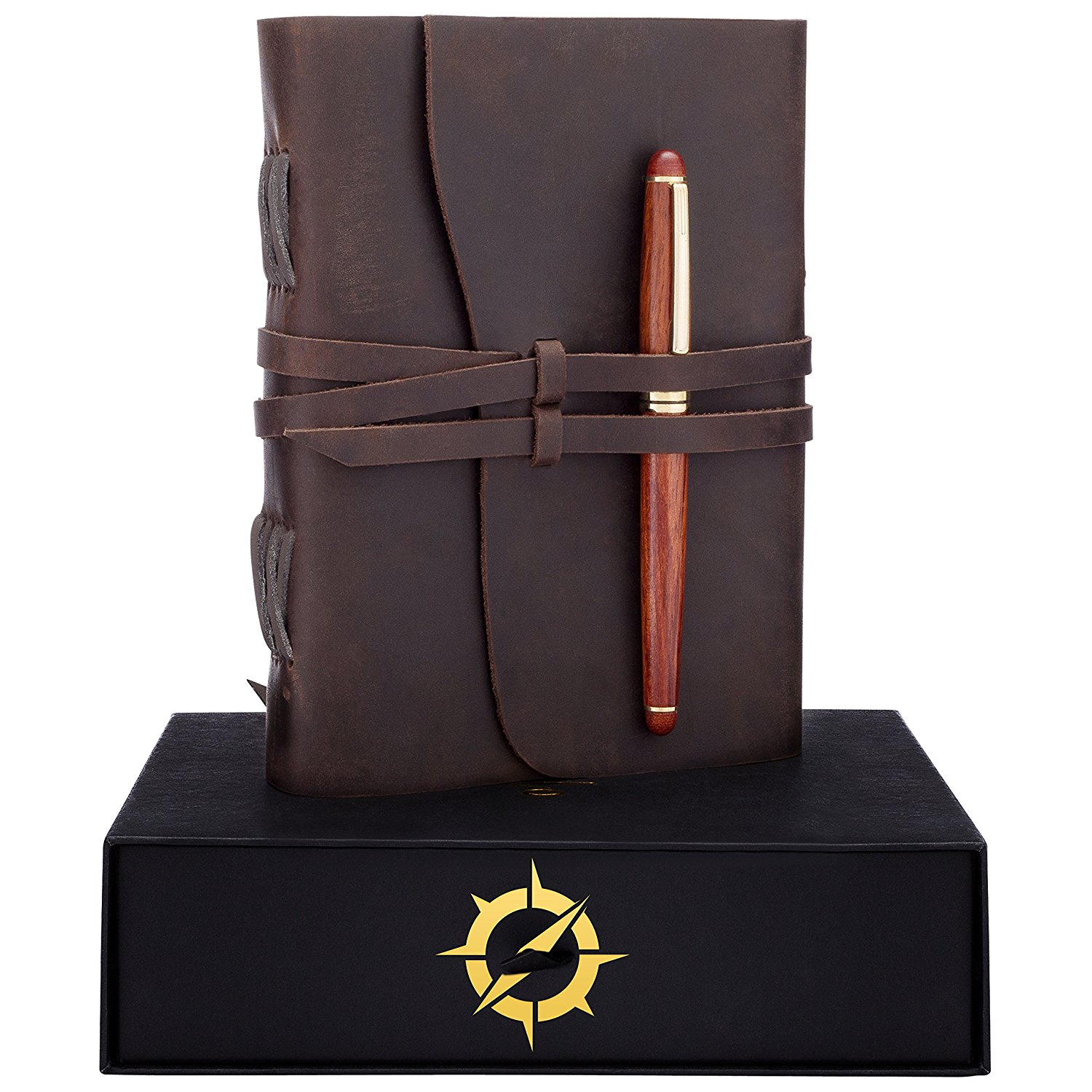 Get Quotations Leather Journal Gift Set RoseWood Pen A Handmade Unique Gifts Ideas Best Personalized Anniversary Birthday