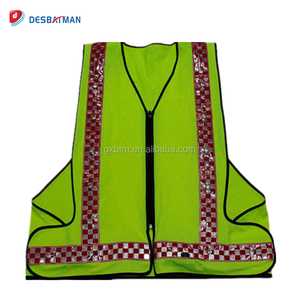 2018 Useful reflective LED running vest safety vest high visibility for running walking motorcycle climbing etc