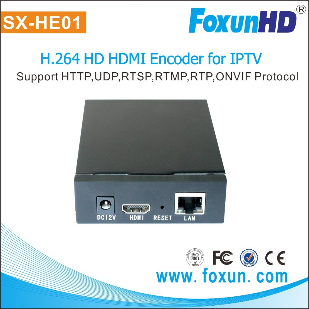 WAN remote control HDMI to dvb-c encoder modulator H.264 encoding SX-HE01 HDMI encoder for Live Broadcast