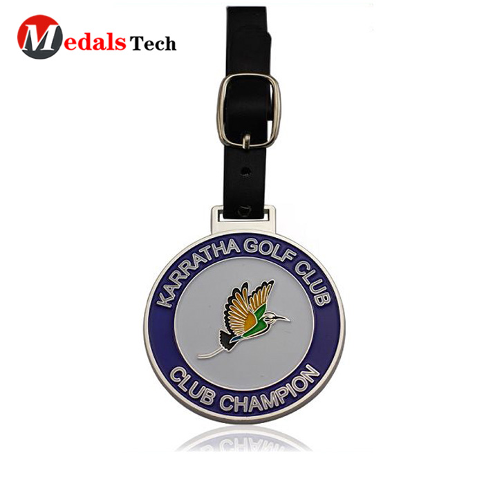 Customized shape pvc and plastic cheap golf bag name tags