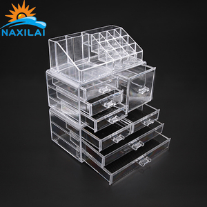 NAXILAI Beautify Inexpensive Plexiglass Acrylic Makeup Box Acrylic Makeup Organizer Acrylic Makeup Holder With Lid