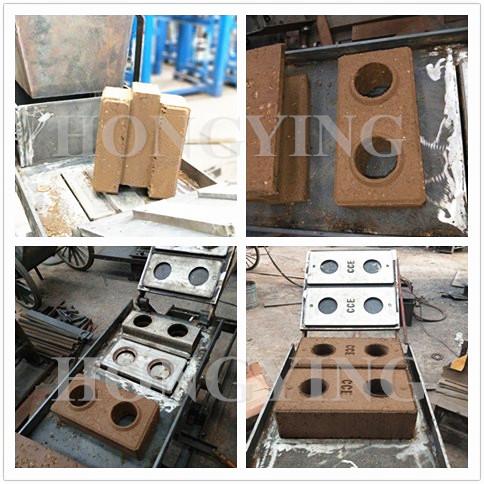Küçük sanayi makineleri/manuel kil blok tuğla yapma makinesi