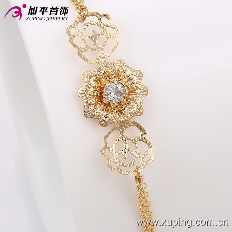 63737-Xuping Fashionable Wedding Flower Jewelry Classic Jewelry Set For Women