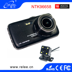 Best 4 inch big screen front and rear car view camera recorder dual lens dash cam