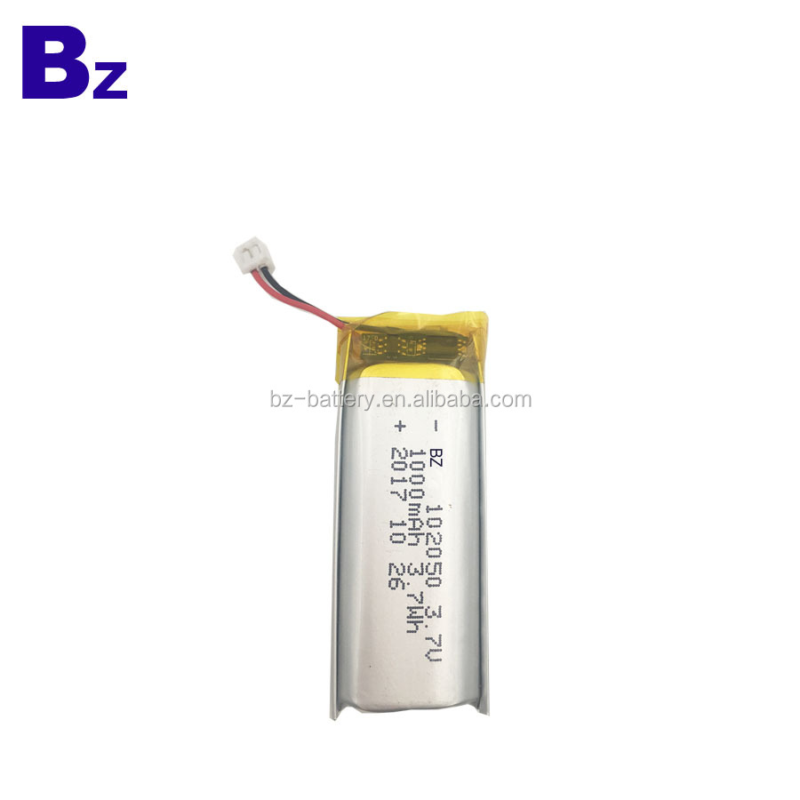 China Lithium Battery Supplier Customized BZ 102050 1000mAh 3.7V Rechargeable Li-Polymer Battery