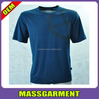 High quality rayon 100 polyester plain sports t shirts for men