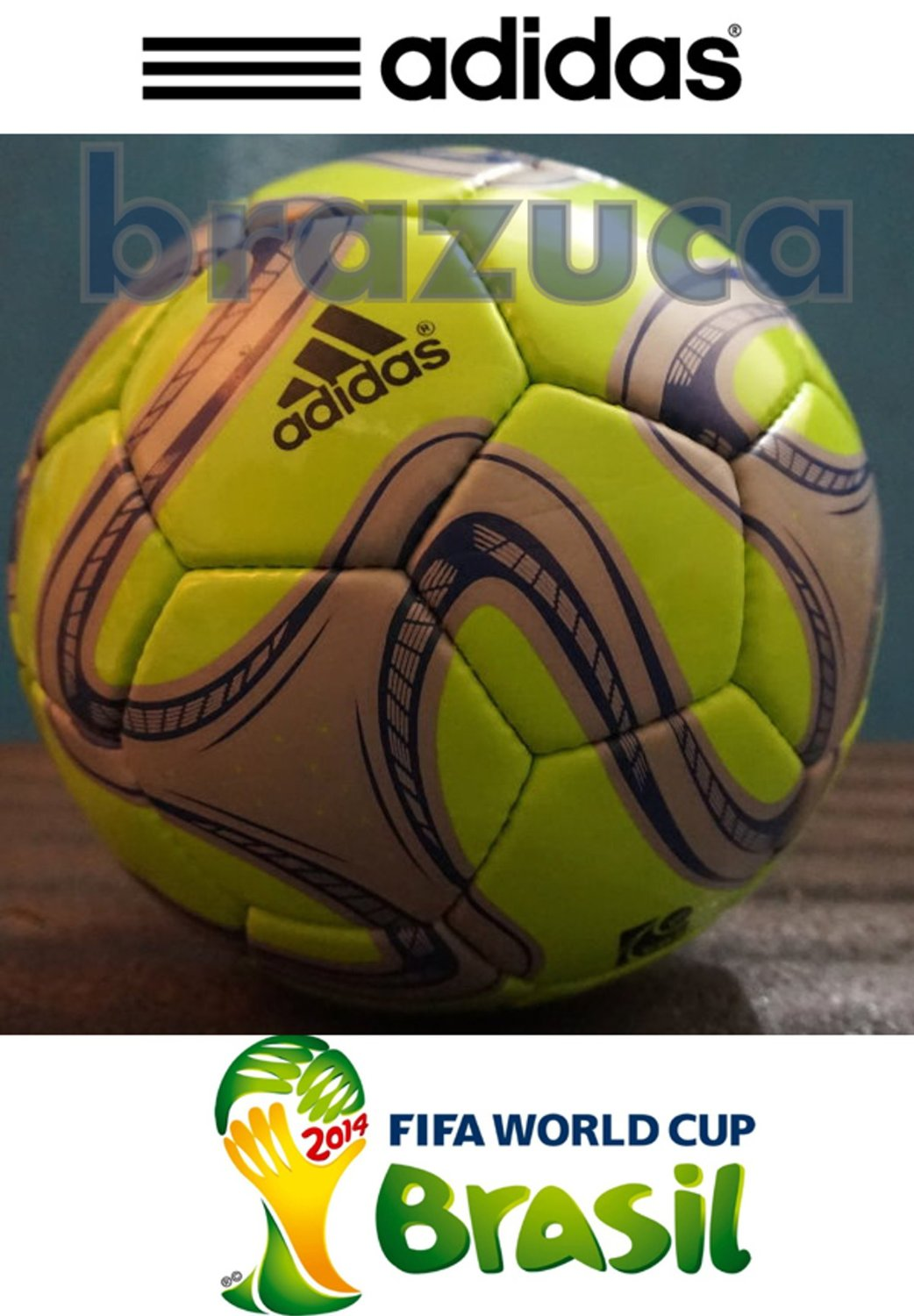 347e74df5a Get Quotations · Brazuca Soccer Ball Football Glider Size 5 Green No Box