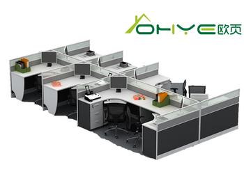 Liansheng Office Desks 4 Seat Workstation Cubicle