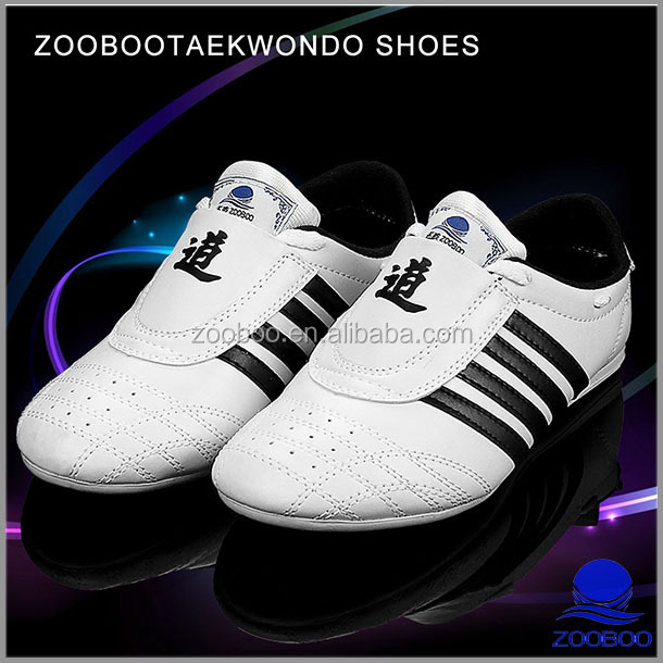 Top quality leather martial daedo taekwondo shoe for competition