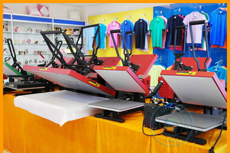 T shirt heat press sticker printing machine