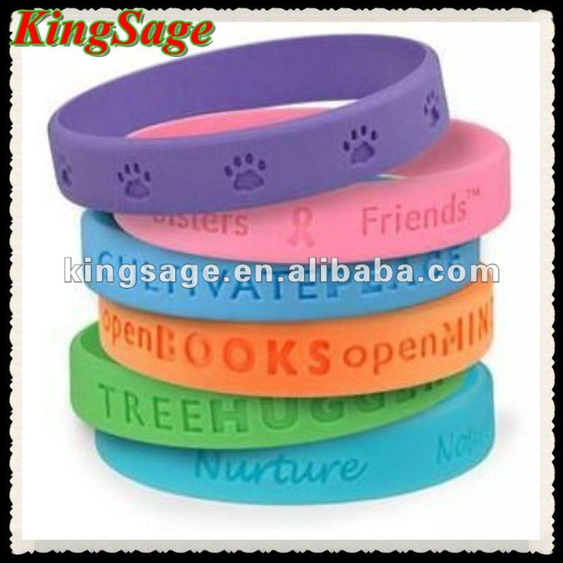 Silicone Bracelets Maker Rubber Fashion Peace Bracelet Product On Alibaba