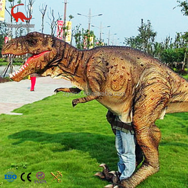 Acara Kustom Prop T Rex Suit Hidup Ukuran Realistis Berjalan