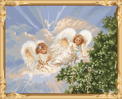 GX7399 2015 new hot angel photo paint by numbers for modern living room decor