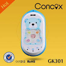 Lovely mini kids phone with GPS tracking and one key emergency call Concox GK301