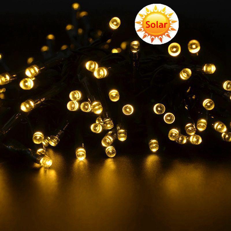 Cheap Outside Lights: Cheap Outdoor 12m 100 LED String Solar LED Strip Light