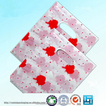 Patch Handle Hard Cut Retail Plastic Bag Garment Poly Hdpe And Ldpe