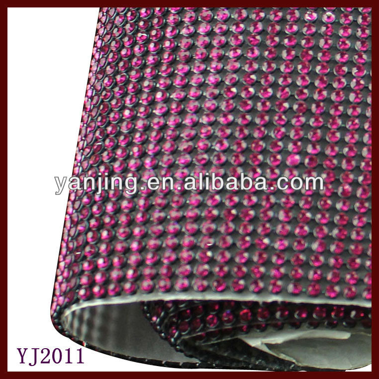 bag and phone dorcoration crystal mesh fabric rhinestone