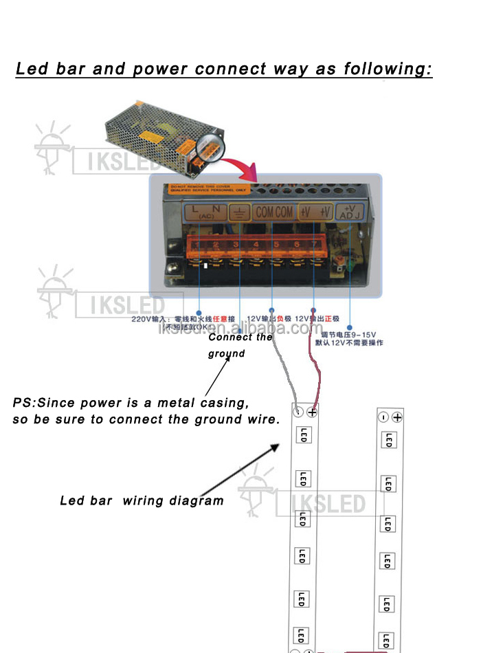 100% Full Power 15 Watt Power Supply 220v Ac/dc 12v 1a 15 ...
