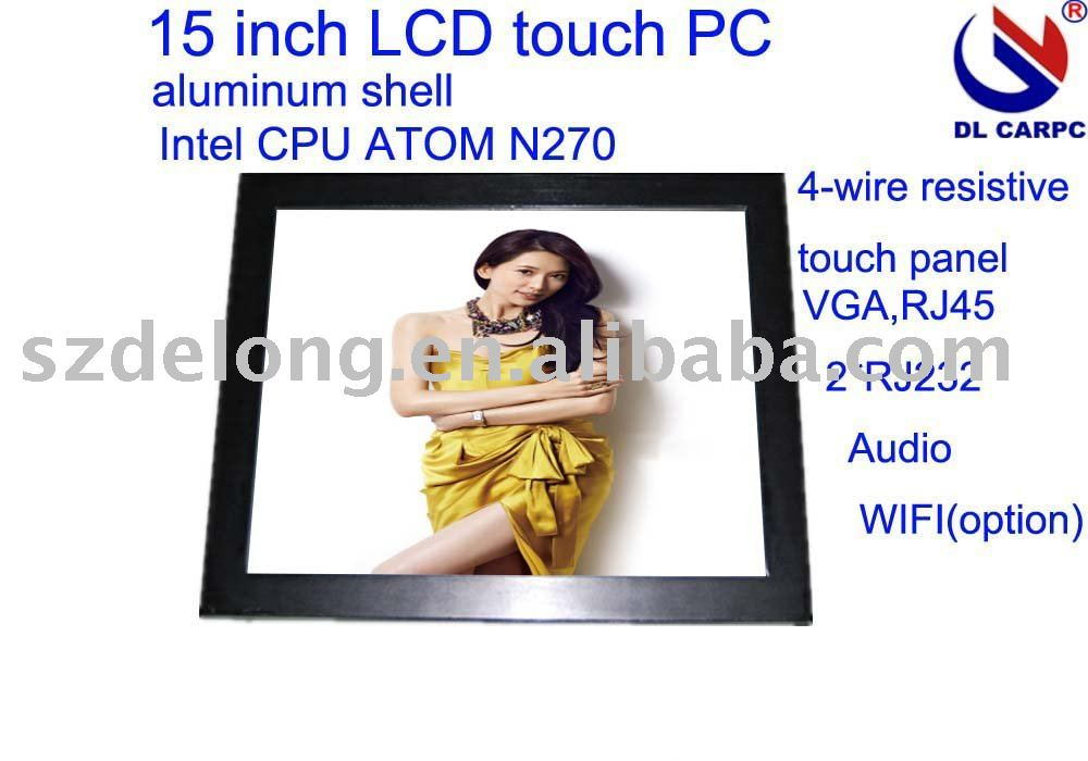 "high quality 15"" LCD IP65 POS PC with 1G RAM,8GSSD, S-video, LAN, VGA, COM port"