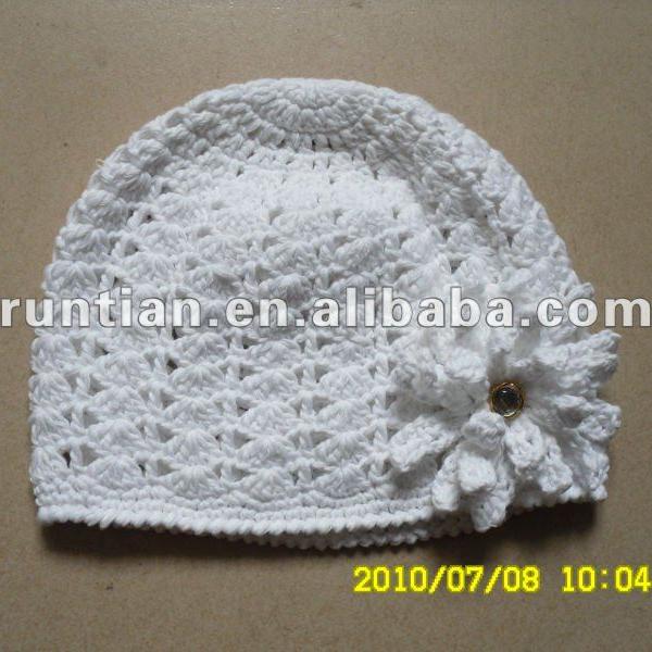 De La Muchacha 100% Algodón Crocheted Mano Del Capó - Buy Niñas ...