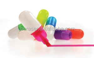 promotional gift pill highlighter,capsule highlighter