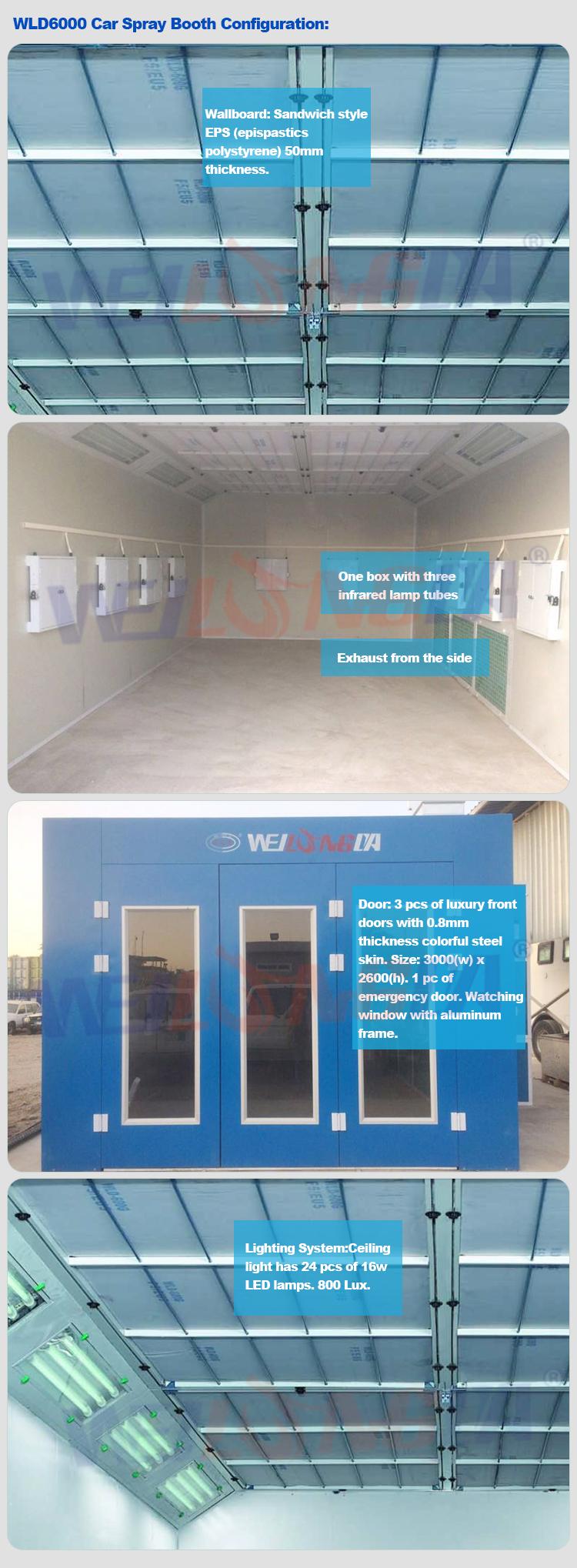 WLD6000 WeiLongDa Gonfiabile A Raggi Infrarossi Cabina di Verniciatura