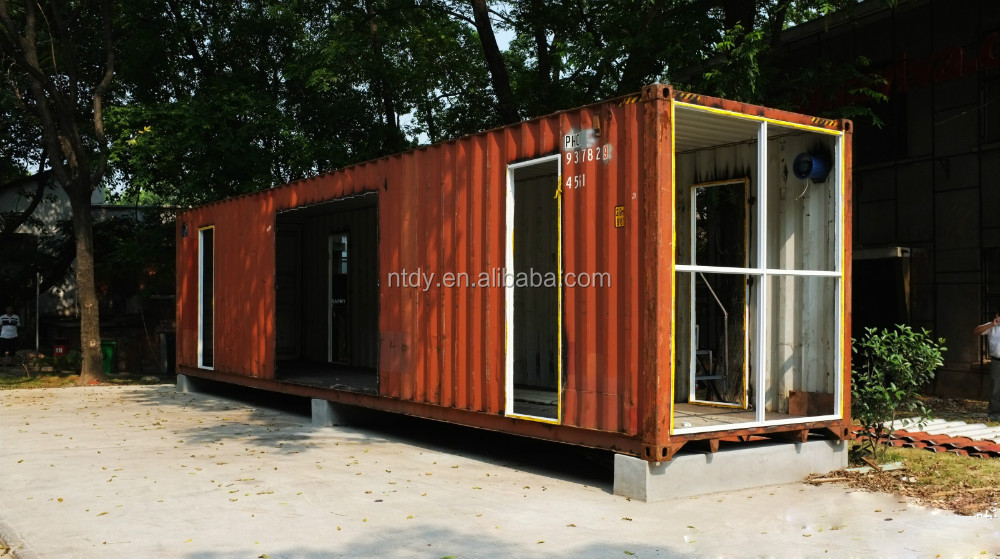 40ft container kit lebenden modernen container haus. Black Bedroom Furniture Sets. Home Design Ideas