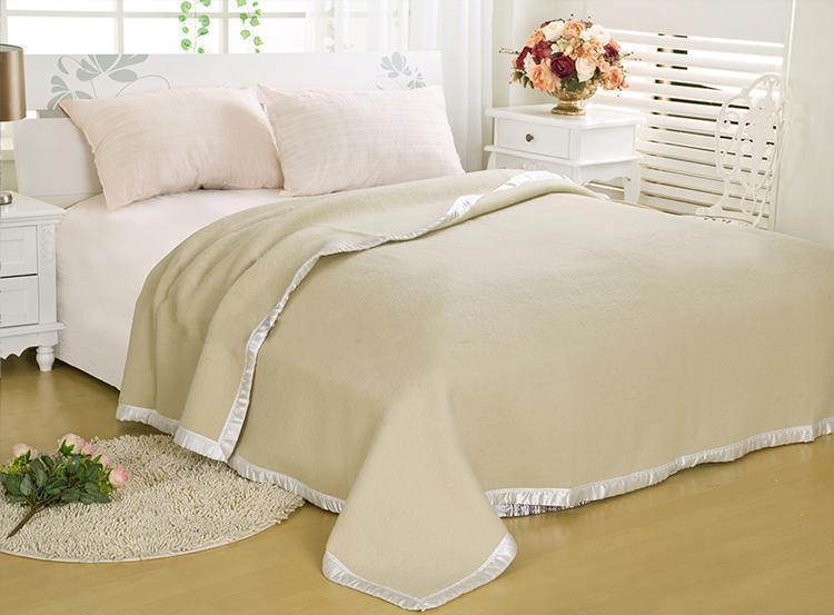 Handmade Camel /australia Wool Soft Blanket