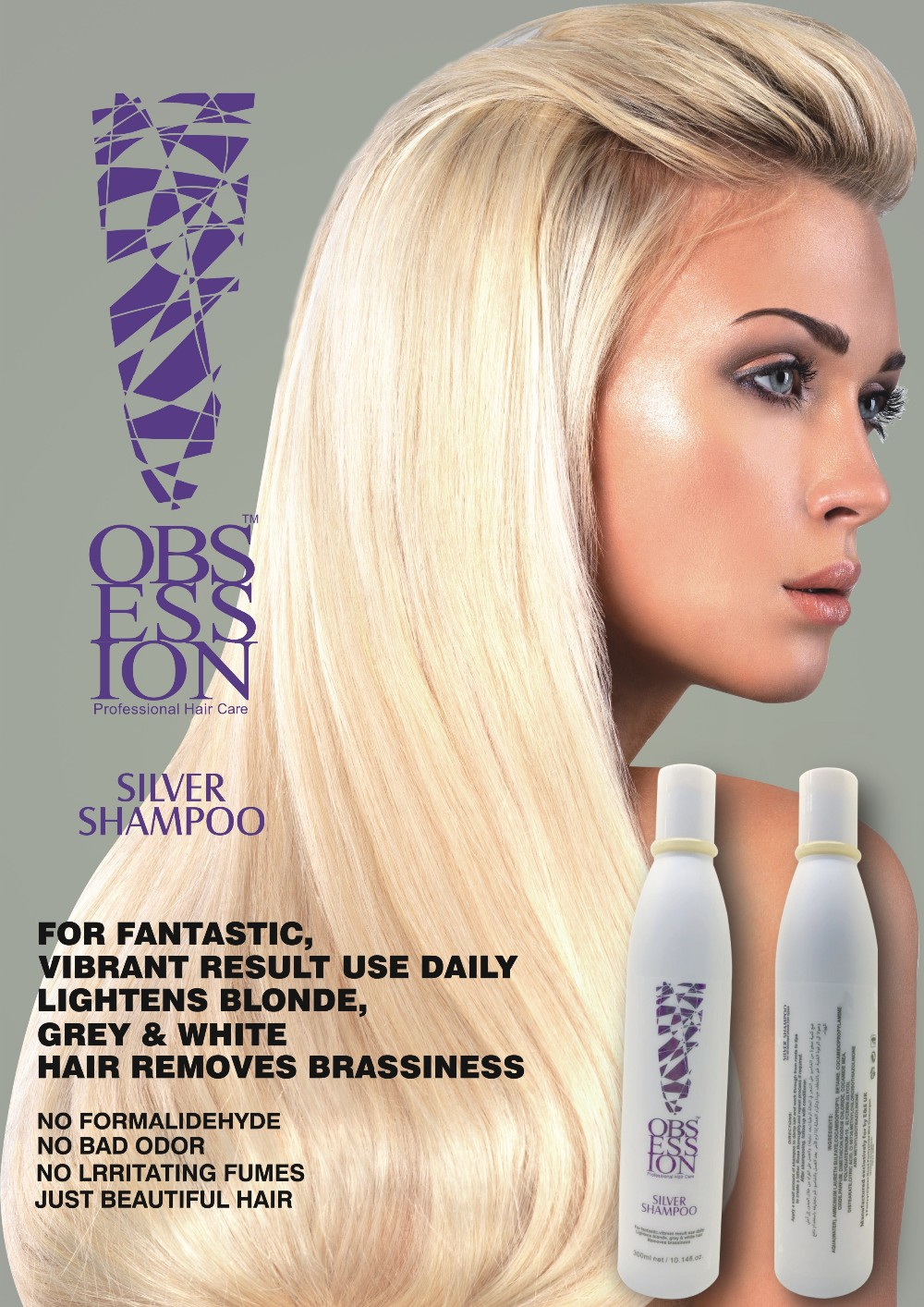 Private Label Products Sulfate Free Silver Hair Shampoo Factory ...