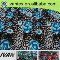 wholesale single jersey print knitted fleece fabric for garment