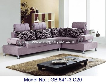 Stylish L Shape Corner Sectional Sofa Set With Pale Purple Color Living Room Furniture With Modern Appearance Buy Corner Sofa Set Designs Sectional