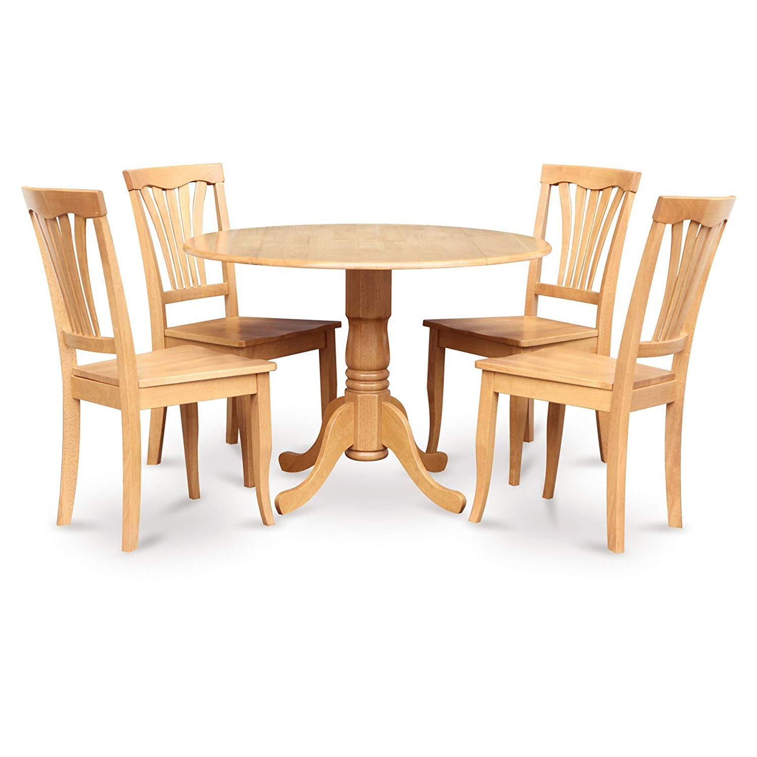 Buy 5 Piece Drop Leaf Dining Table Set With Avon Wooden Seat Chairs