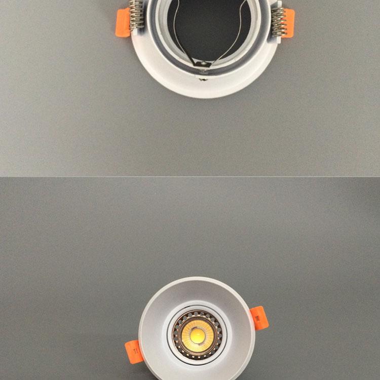 Mr16/gu10 Led Lamp Holder Aluminum Led Reflector Cup Lamp Coffee ...