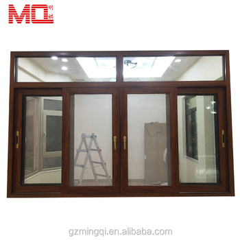 Thermal break balcony double glazed aluminum sliding window