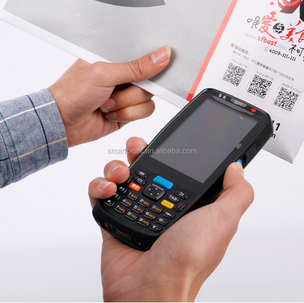 Mini intelligente nice robuuste Android barcode scanner/reader/wereld model Corning Gorilla Glas screen data capture unit