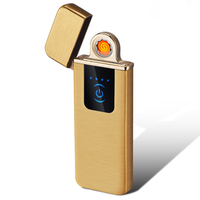 New flameless coil usb lighter with fingerprint ignition plasma usb lighter rechargeable