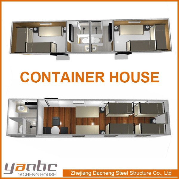 Container Houses 40 FEET Prefabricated 3 bedroom house plans