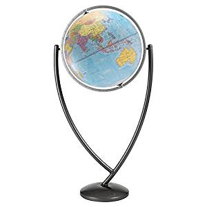 "Colombo Floor Globe Size: 20"", Color: Blue Ocean"