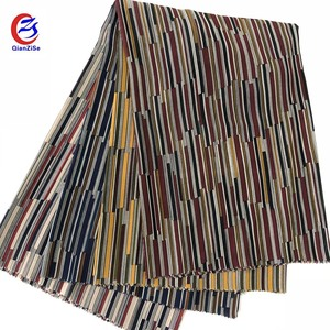 High quality Ankara geometric stripes design chiffon fabric for scarf