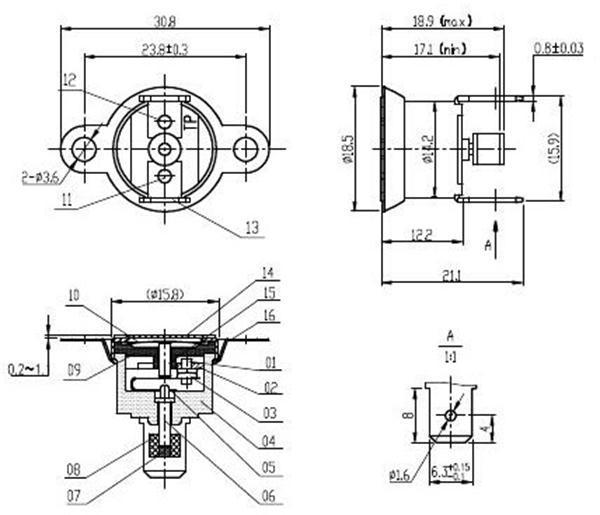 t1m  33 normally open wholesale manual reset bimetal thermostat