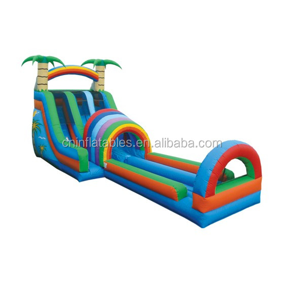 Inflatable Water Slide/Double Funnel Tunnel with Landing