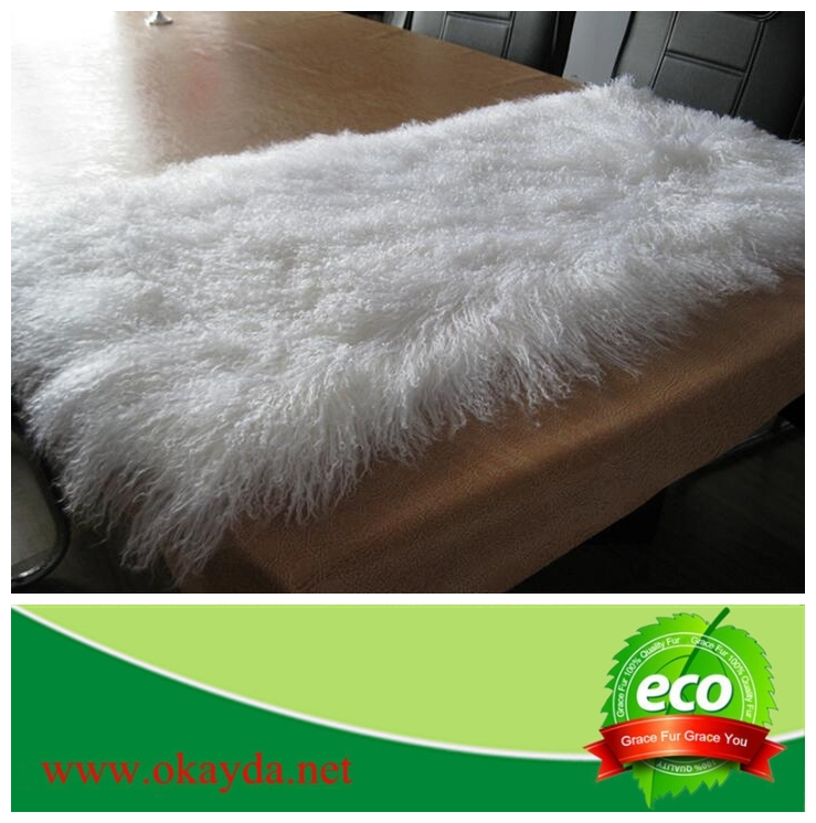 Goat Skin Blanket Icelandic Sheepskin Goat Long Hair Skin Rugs