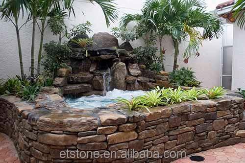 Peque o jard n cascada cascada de piedra natural ca da for Cascadas de piedra para jardin