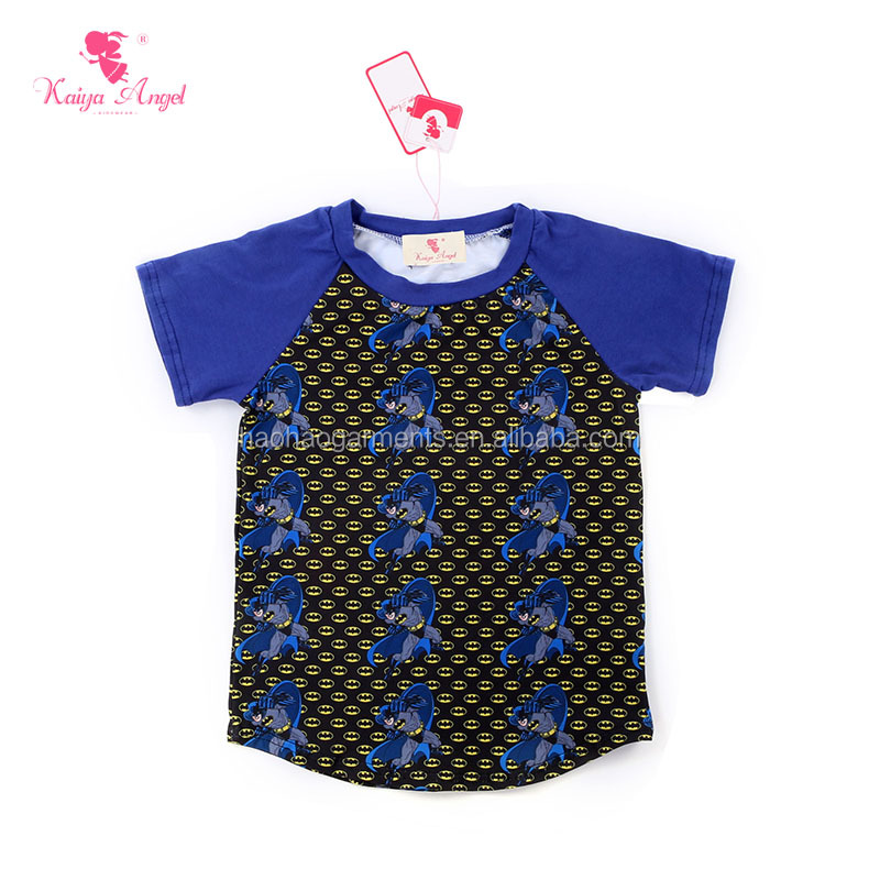 Baby Raglan Shirts Wholesale Boutique Kids Clothing Boys Short Sleeve Raglan T-shirts