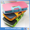 Multiclor fashion belt clip magnetic flip case for iphone 4 leather cover