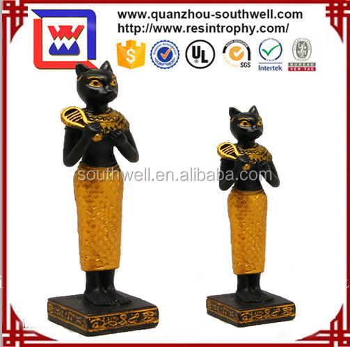 Miniature Egyptian Bastet Figurine.Ubasti Bast Deity.Ancient Egypt God Statue