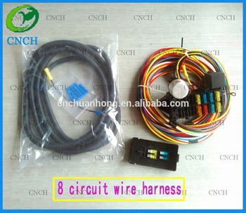 8 circuit rear fuse box mount universal wiring harness for most rh alibaba com
