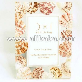 Photo Frame Resin Hand Cast : Brown Sea Scallop Embed : 4 X 6 Inch ...