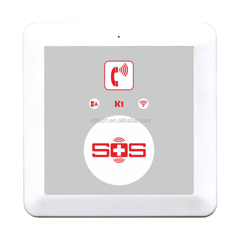 K1 2015 New products GSM senior SOS alert, sos call alarm with big button any one answer the call or dial 3 cycles.